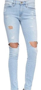 FRAME Skinny Jeans-Light Wash