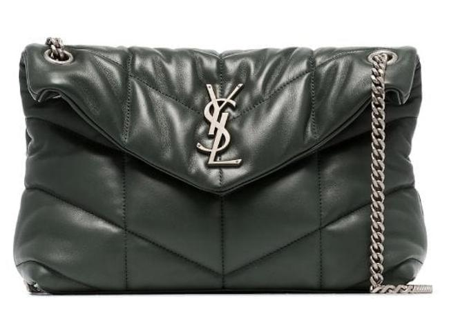 Item - Monogram Loulou Ysl Puffer Silver Small Monogram Chain Green Lambskin Leather Shoulder Bag