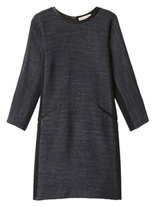 Rebecca Taylor Office Leather Tweed Shift Dress