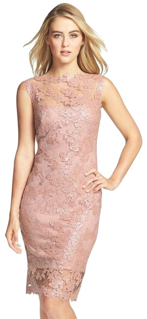 Item - Antique Pink Agf1419m Mid-length Formal Dress Size 4 (S)