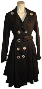 Say What! Cotton Belted Fitted Onm001 Trench Coat