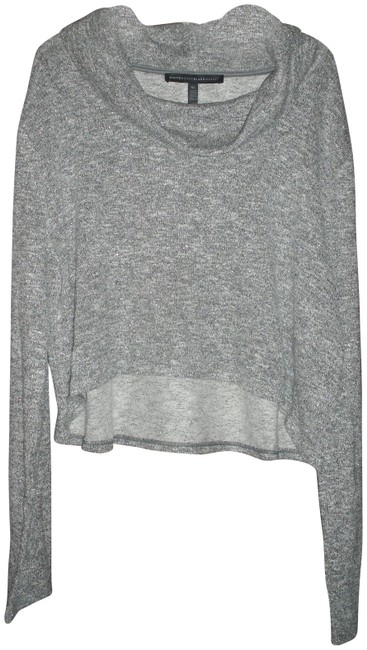 Item - Crop Cowl Neck Gray/Silver Sweater