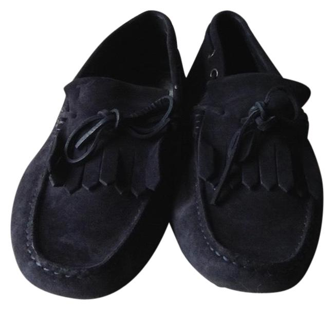 Item - Navy Blue Gommino Suede Loafers Flats Size US 8.5 Regular (M, B)