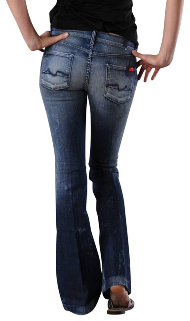 Item - Blue Distressed Charlize Exclusive 777 Series Flare Leg Jeans Size 27 (4, S)