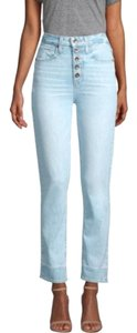 paige Light Wash Relaxed Fit Jeans-Light Wash