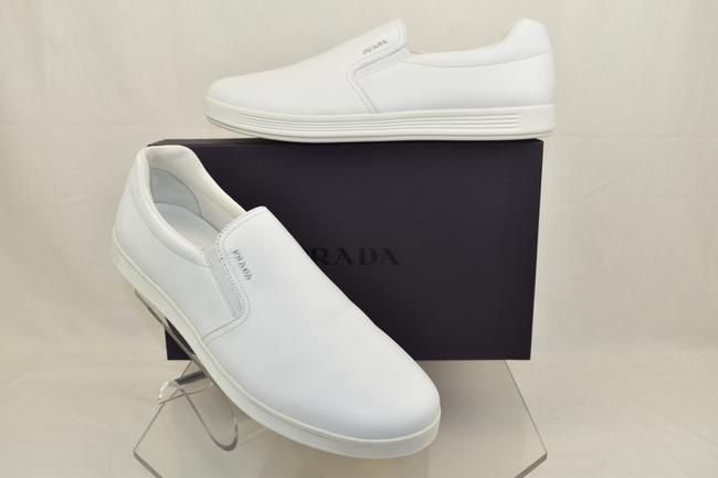 Item - White Leather Logo Slip On Low Top Skater Sneakers 11.5/ Us 12.5 Shoes