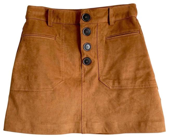 Item - Cognac Tan Suede Skirt Size 0 (XS, 25)