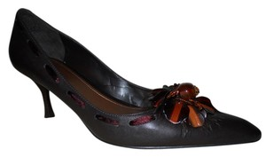 Enzo Angiolini Leather Mbc brown Pumps