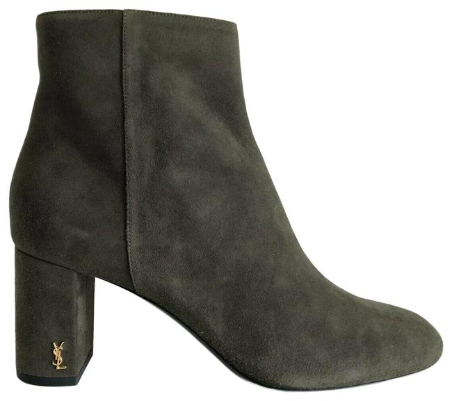 Item - Haunting Green Monogram Loulou Ysl Suede Leather Zip Ankle Boots/Booties Size EU 40 (Approx. US 10) Regular (M, B)