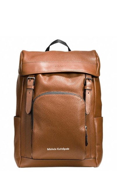 Item - Men's Henry In Pebble F72311 Brown Leather Backpack