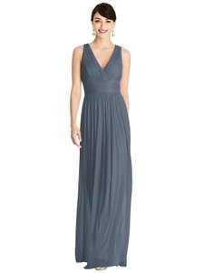 Alfred Sung Silverstone Chiffon Knit D744 Casual Bridesmaid/Mob Dress Size 12 (L)