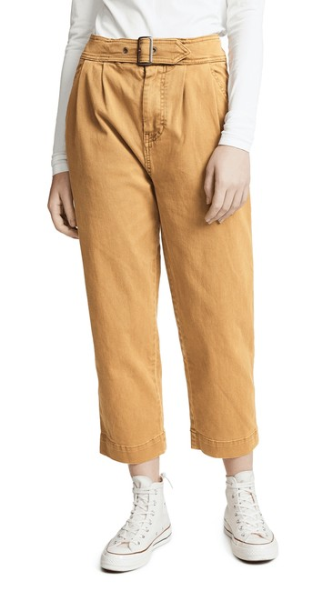 Item - Beige Pants Seamed Like The Real Thing Women 12 New Trouser/Wide Leg Jeans Size 34 (12, L)
