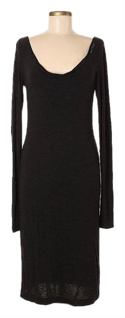 Item - Black Lbd Long Sleeve Mid-length Short Casual Dress Size 8 (M)