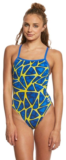 Item - Sapphire Gold Endurance+ Women's Caged Out Flyback Swimsuit One-piece Bathing Suit Size 26 (Plus 3x)