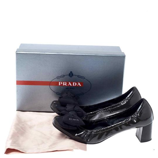 Prada Sport Patent Leather Leather Green Pumps Image 7
