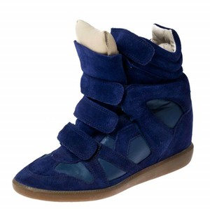 Isabel Marant Suede Leather Wedge Rubber Blue Athletic