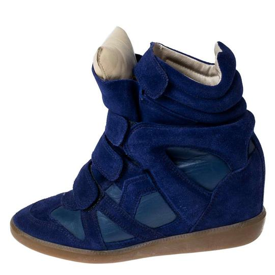 Isabel Marant Suede Leather Wedge Rubber Blue Athletic Image 1