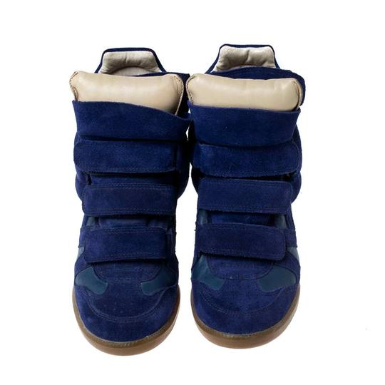 Isabel Marant Suede Leather Wedge Rubber Blue Athletic Image 2