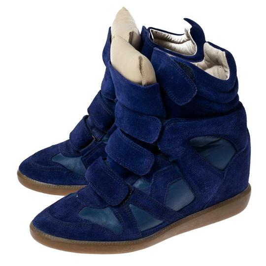 Isabel Marant Suede Leather Wedge Rubber Blue Athletic Image 3