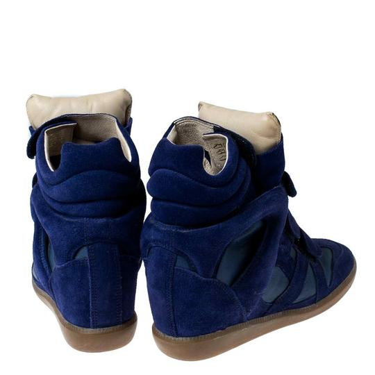 Isabel Marant Suede Leather Wedge Rubber Blue Athletic Image 4