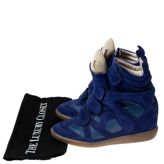 Isabel Marant Suede Leather Wedge Rubber Blue Athletic Image 7