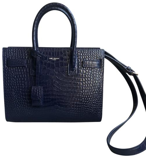 Saint Laurent Tote in Sapphire Image 1