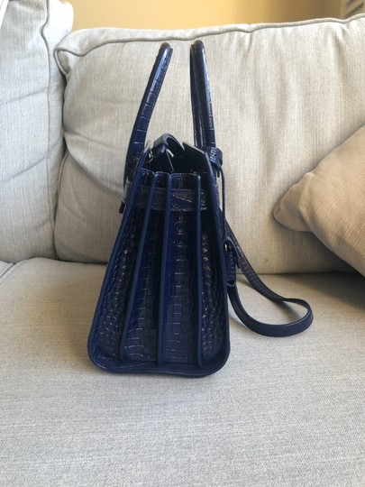 Saint Laurent Tote in Sapphire Image 2