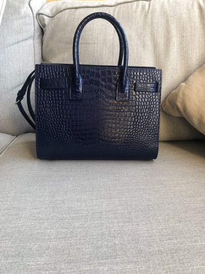 Saint Laurent Tote in Sapphire Image 3