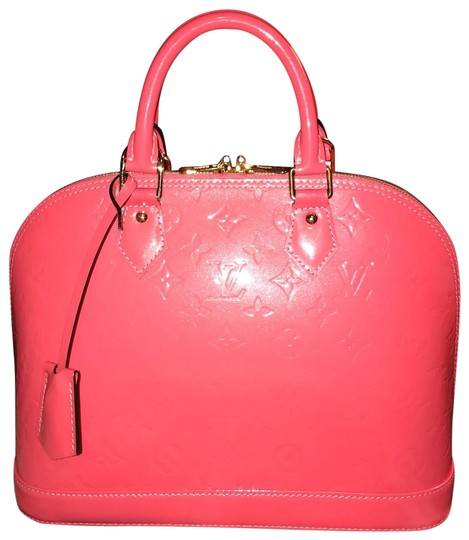 Preload https://img-static.tradesy.com/item/26330879/louis-vuitton-alma-vernis-pm-rare-color-rose-litchi-coral-pink-leather-satchel-0-3-540-540.jpg