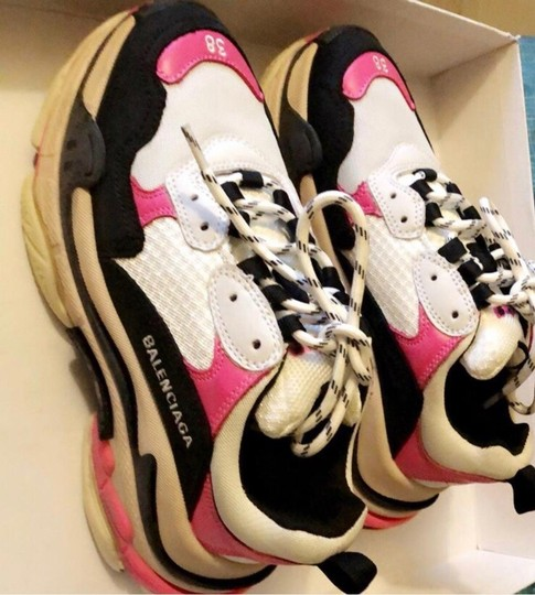 Balenciaga Pink black white Athletic Image 2