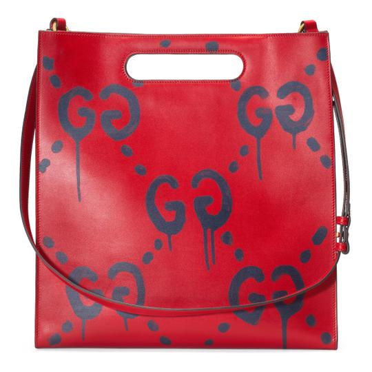 Gucci Tote in Red Image 5