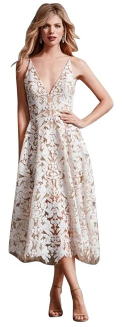 Preload https://img-static.tradesy.com/item/26330918/dress-the-population-whitenude-blair-sequin-lace-fit-cocktail-dress-size-12-l-0-3-650-650.jpg