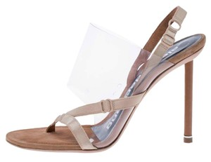 Alexander Wang Slingback Leather Suede Beige Sandals