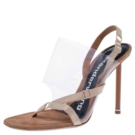 Alexander Wang Slingback Leather Suede Beige Sandals Image 1