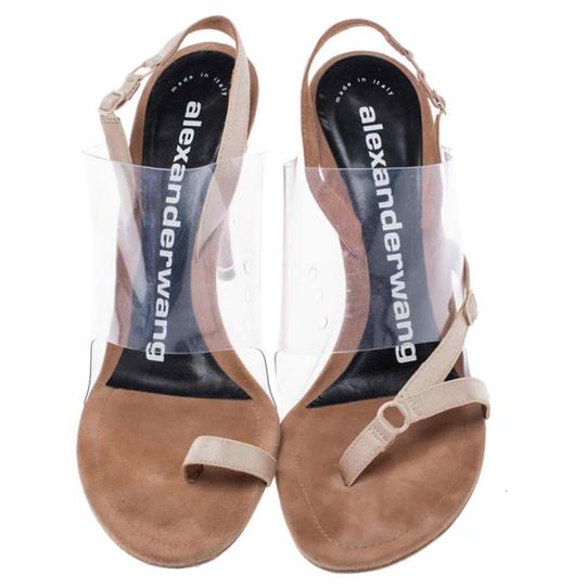 Alexander Wang Slingback Leather Suede Beige Sandals Image 2