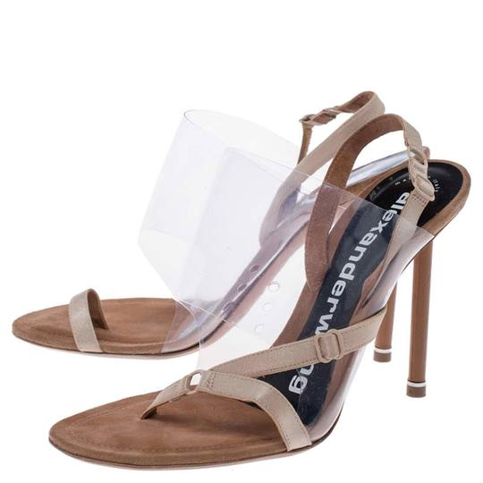 Alexander Wang Slingback Leather Suede Beige Sandals Image 3