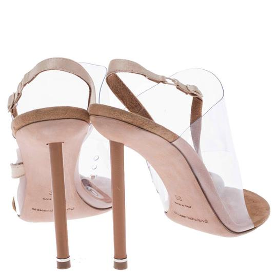 Alexander Wang Slingback Leather Suede Beige Sandals Image 4