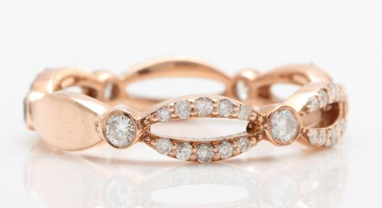 other .52CTW Natural VS2-SI1 / G-H DIAMONDS in 14K Solid Rose Gold Ring Image 1