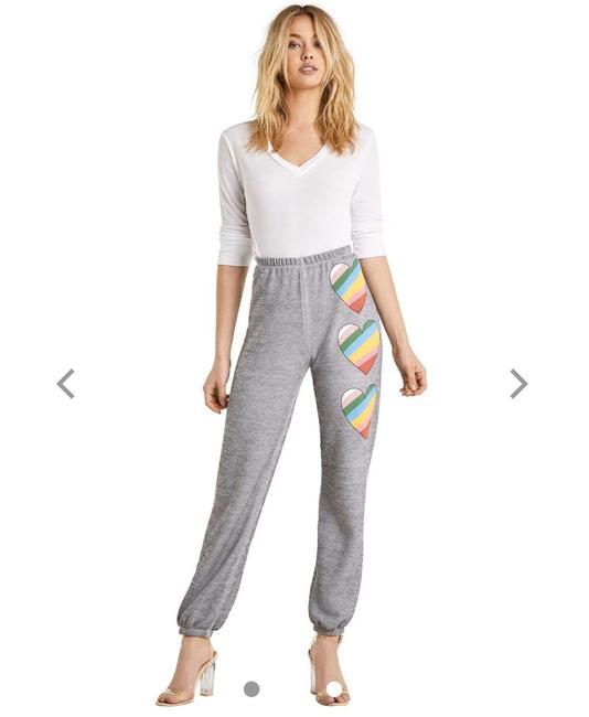 Preload https://img-static.tradesy.com/item/26330946/wildfox-gray-in-love-easy-sweats-pants-size-4-s-27-0-0-650-650.jpg