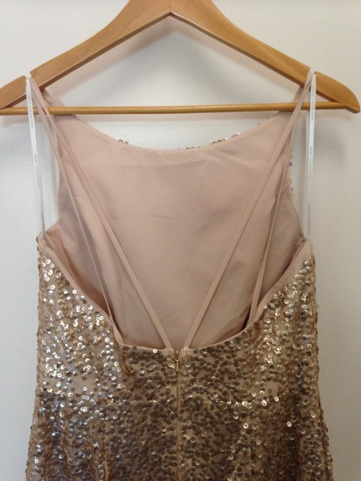 Dessy Gold Sequined 2993 Sexy Bridesmaid/Mob Dress Size 10 (M) Image 1