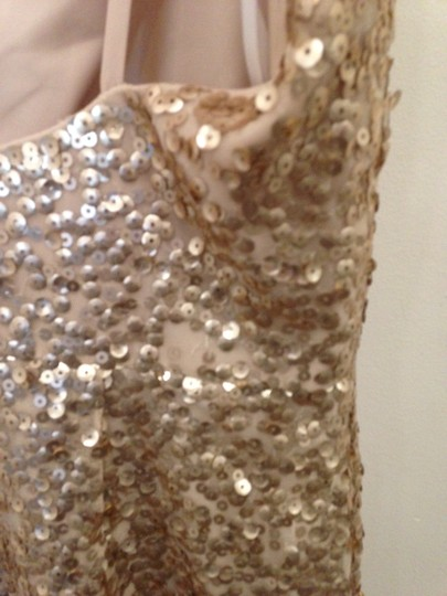Dessy Gold Sequined 2993 Sexy Bridesmaid/Mob Dress Size 10 (M) Image 3