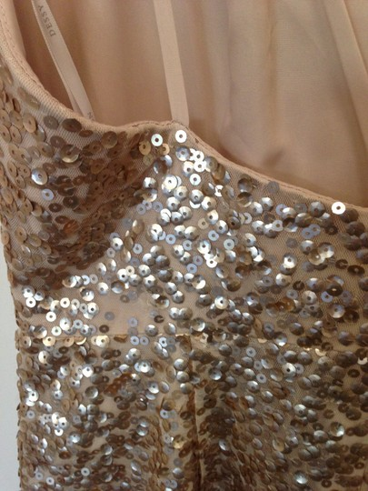 Dessy Gold Sequined 2993 Sexy Bridesmaid/Mob Dress Size 10 (M) Image 4