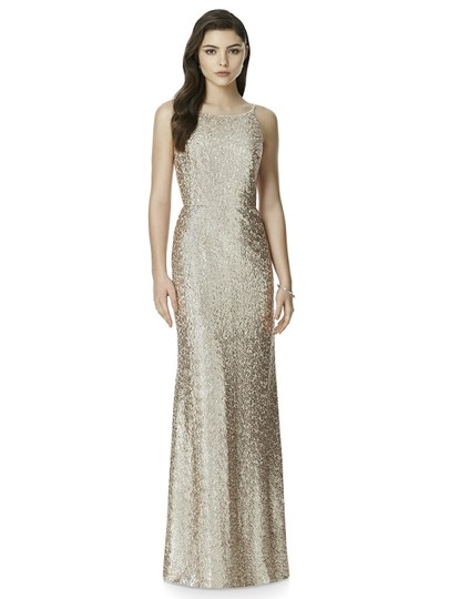 Dessy Gold Sequined 2993 Sexy Bridesmaid/Mob Dress Size 10 (M) Image 5
