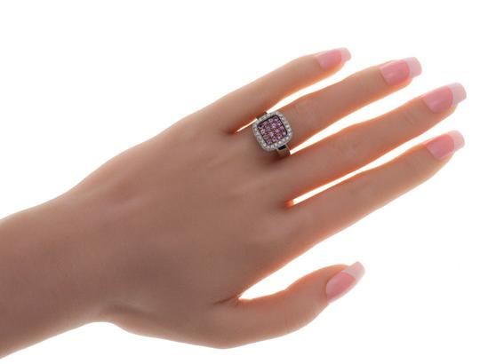 Non Branded Fancy 0.90 CT Pink Sapphire & 0.84 CT Diamonds 18K Gold Band Ring Image 2