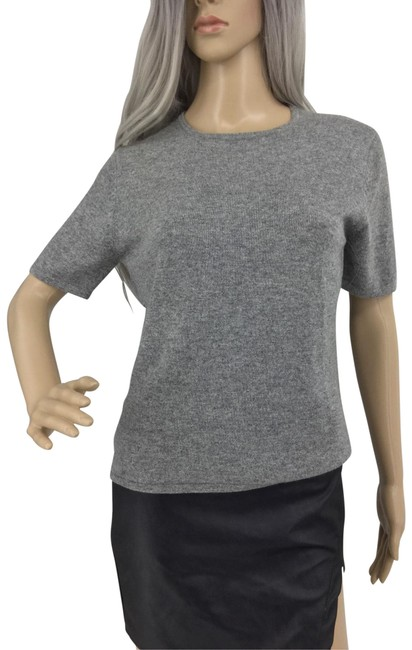 Preload https://img-static.tradesy.com/item/26331008/ann-taylor-gray-cashmere-sweater-blouse-size-8-m-0-3-650-650.jpg