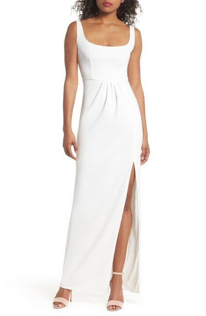 Preload https://img-static.tradesy.com/item/26331013/katie-may-ivory-rosie-open-back-crepe-gown-long-formal-dress-size-10-m-0-0-650-650.jpg