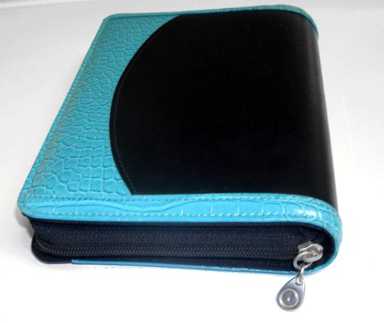 Franklin Covey 365 Faux Leather Croc Compact Ziparound Planner Binder Agenda Image 4