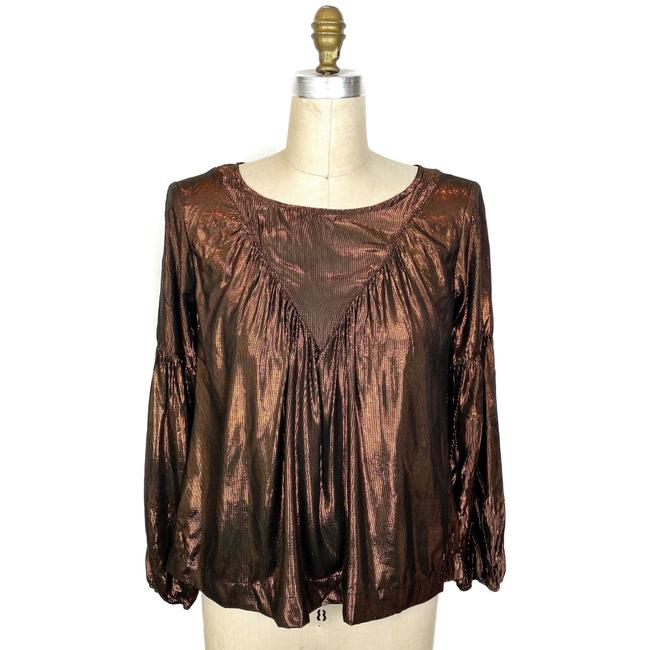 Anthropologie Top Brown Image 1