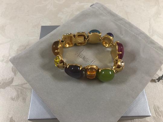 Neiman Marcus Cabochon multicolor stone bracelet, Italy Image 2