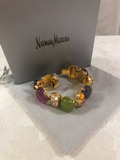 Neiman Marcus Cabochon multicolor stone bracelet, Italy Image 6